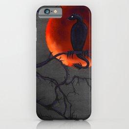 Dragon Hawk Before Blood Moon Night Sky iPhone Case