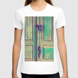 old wood vintage door T-shirt
