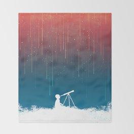 Meteor Rain (light version) Throw Blanket
