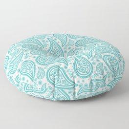 Paisley (Teal & White Pattern) Floor Pillow