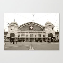 Basel Train Station Canvas Print
