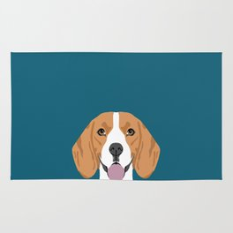 Lenon - Beagle gifts for pet owners and dog person with a beagle Rug