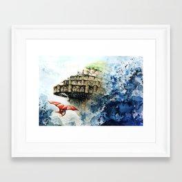 """""""The castle in the sky"""" Framed Art Print"""