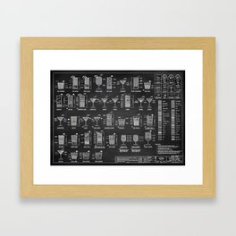 COCKTAIL chart Framed Art Print