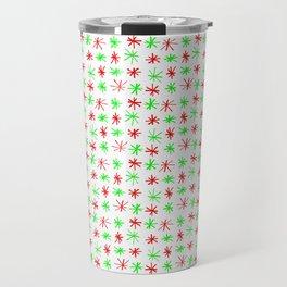 stars 78 - green and red Travel Mug