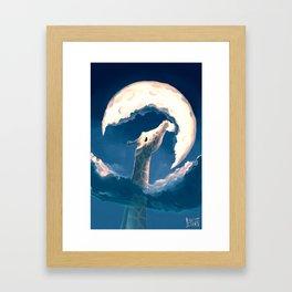 La fable de la girafe Framed Art Print