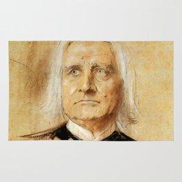 Franz Liszt (1811-1886). Painting by Franz Von Lenbach Rug