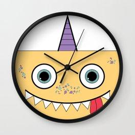 Yellow Monster Wall Clock