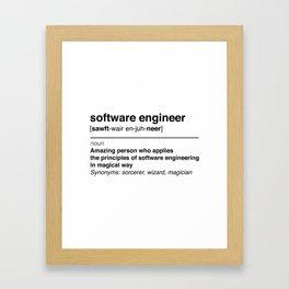 Software Engineer definition Framed Art Print