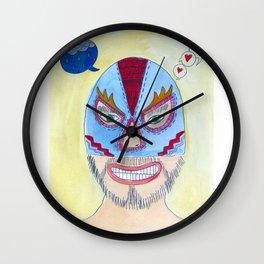 Blue Wrestler Wall Clock