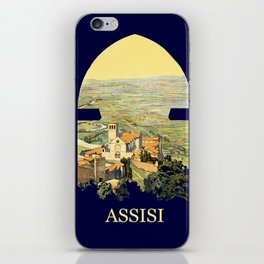 Vintage Litho Travel ad Assisi Italy iPhone Skin