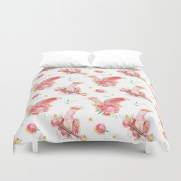 Hello gorgeous cockatoo Duvet Cover