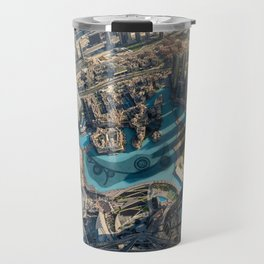 On top of the world, Burj Khalifa, Dubai, UAE Travel Mug