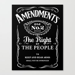 2nd Amendment Whiskey Bottle Canvas Print