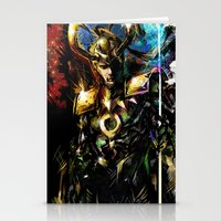 loki Stationery Cards featuring Loki by Vincent Vernacatola