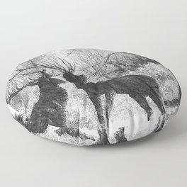 Winter storm Floor Pillow