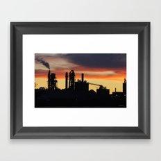 Industrial Sunset Framed Art Print