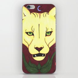 Mountain Lion at Midnight iPhone Skin