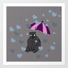 It's Raining Love Art Print