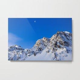 Beautiful Mountain with snow view Metal Print