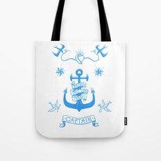 A Captain's Life  - Anchor & Birds Tote Bag