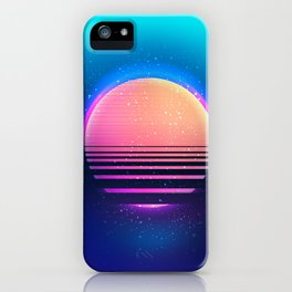Retro vintage 80s or 90s geometric style abstract art iPhone Case