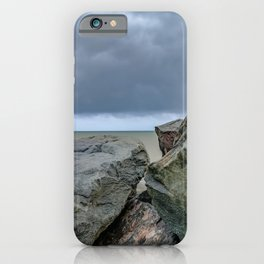 Storm clouds over the coast iPhone Case