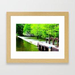 Lake Waccamaw Dam Framed Art Print