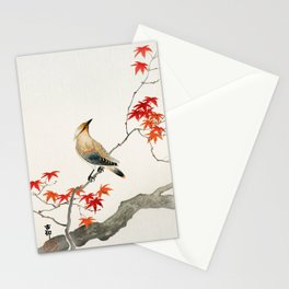 Little Bird On Branch - Old Vintage Birds Illustration Stationery Cards
