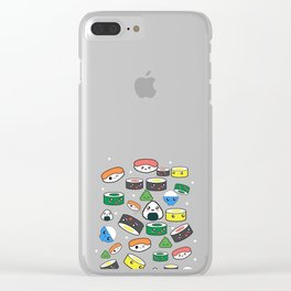 Funny Kawaii Sushi design Gift for Japanese Anime fans Clear iPhone Case