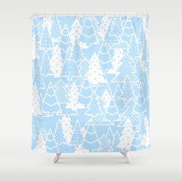 Elegant Christmas Trees Holiday Pattern Shower Curtain