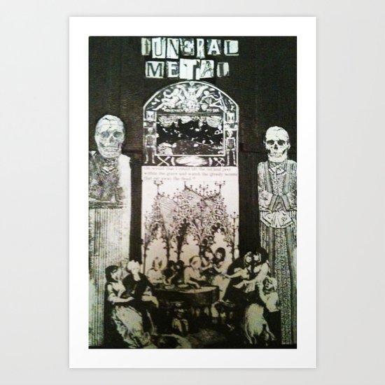 FuneralMetal Art Print