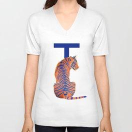 T - Tiger Unisex V-Neck