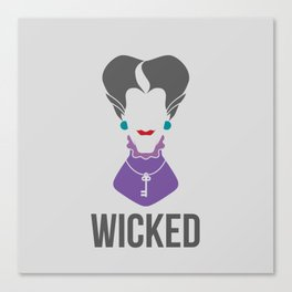 Distorted Dizney: Wicked Stepmother Canvas Print