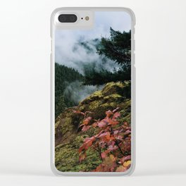 Salmon-Huckleberry Wilderness Clear iPhone Case