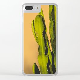 Vibrant Cactus Clear iPhone Case
