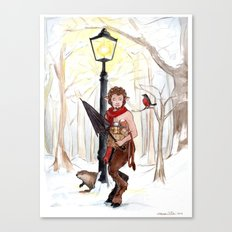 Mr. Tumnus at the Lamp-Post Canvas Print