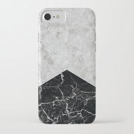 Concrete Arrow Black Granite #844 iPhone Case