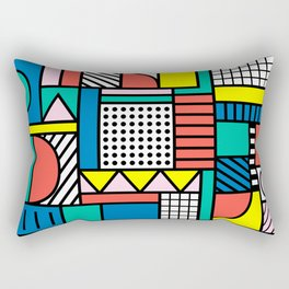 Memphis Color Block Rectangular Pillow