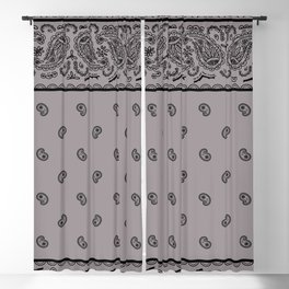 Black and Gray Bandana Blackout Curtain