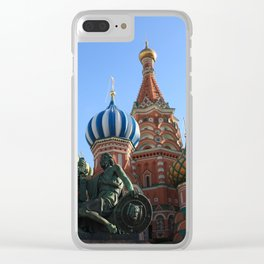 Saint Basil's Cathedral, Moscow Clear iPhone Case