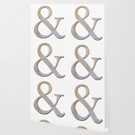 French Ampersand Wallpaper