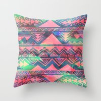 techno Throw Pillows featuring Techno Native by Schatzi Brown