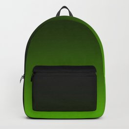 Ombre Lemon Green Backpack