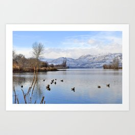 Columbia River In Winter Art Print
