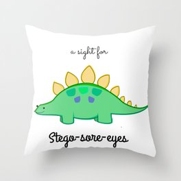 Stego-sore-eyes Throw Pillow