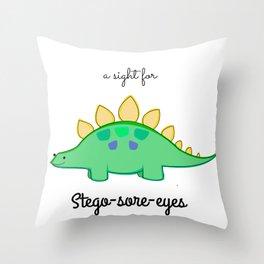 Stego-sore-eyes Throw Pillow