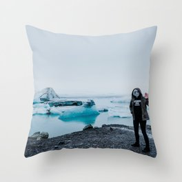 ALIENS IN ICELAND // Throw Pillow