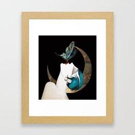 Butterfly Kiss Art Deco Remix Framed Art Print