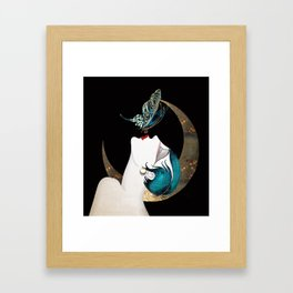 Butterfly Kiss Art Deco Remix Framed Art Print